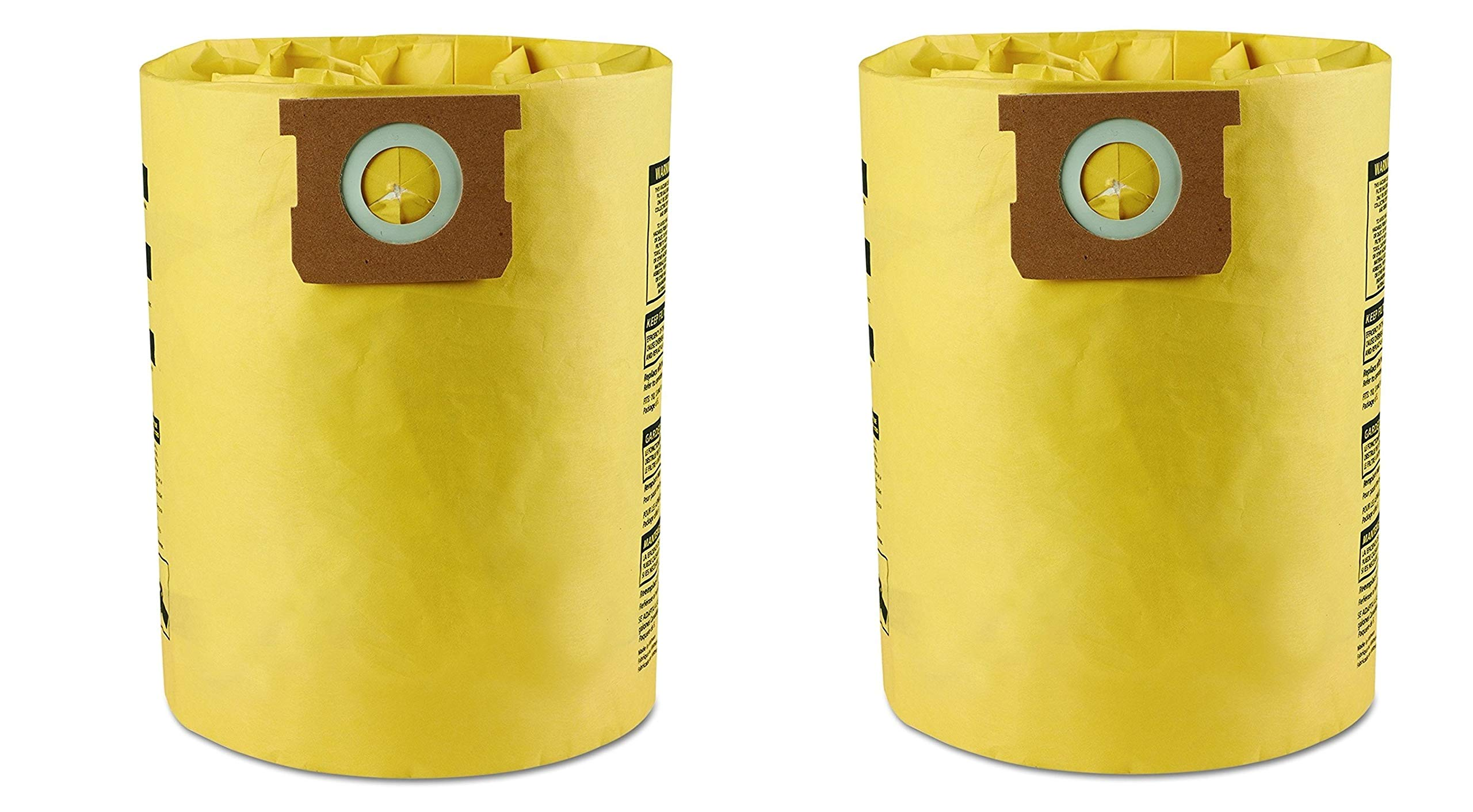 Shop-Vac 9067200 High Efficiency Collection Filter Bags, 10 14gal (2 X Pack of 2) by Shop-Vac