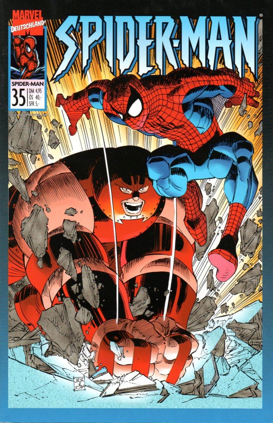 Marvel Comics, Spider-Man (1. Serie) - Großband 35 - Keiner stoppt Juggernaut! (Die Spinne) Comic – 1999 Panini B007ZE2R1O Belletristik - Comic Cartoon