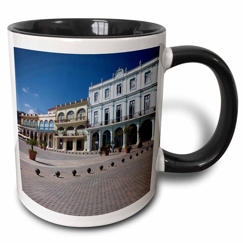 3dRose Danita Delimont - Cuba - Cuba, Havana, Plaza Vieja, renovated buildings - CA11 WBI0223 - Walter Bibikow - 15oz Two-Tone Black Mug (mug_134334_9)