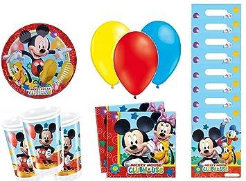 Mickey cumpleaños - Kit de cumpleaños 8 Personas: Amazon.es ...
