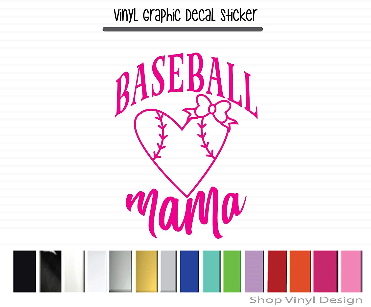 High Quality Outdoor Rated Vinyl Baseball Mama Vinyl Graphic Decal Sticker for Vehicle Car Truck SUV Window Laptop Cooler Planner Locker Safe