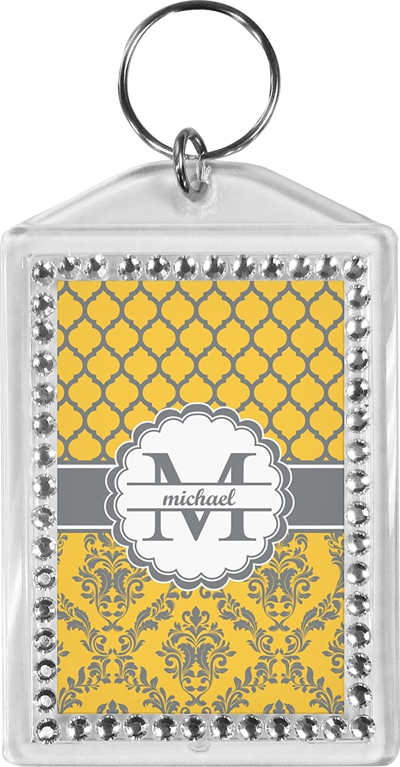 Damask & Moroccan Bling Keychain (Personalized)