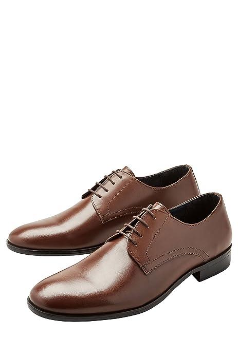 next Hombre Zapatos De Vestir Lisos Corte Regular Bronceado EU 48: Amazon.es: Zapatos y complementos