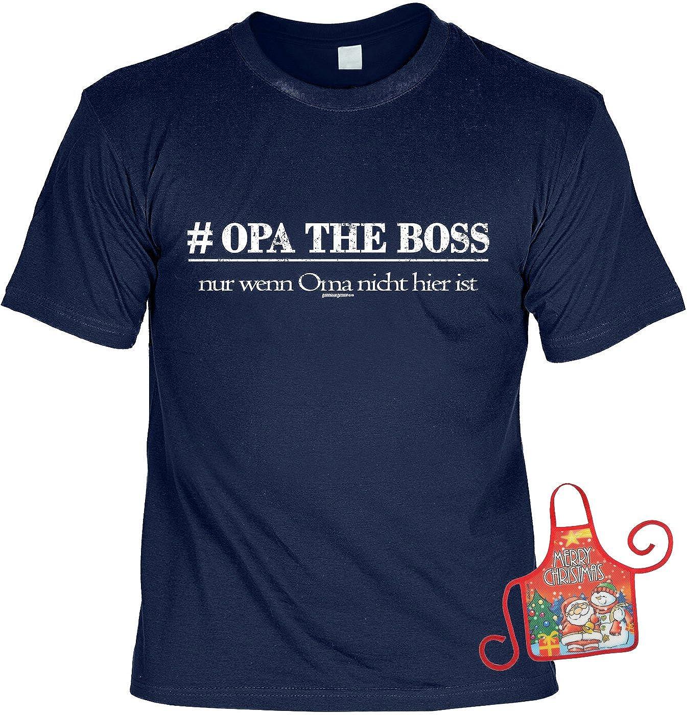 T-Shirt - Opa the Boss - Wenn Oma nicht da ist - bedrucktes Motiv ...