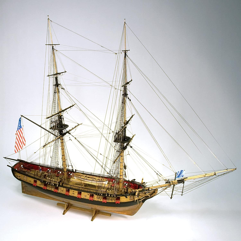 Modelo Shipways #MS2260 Brig Syren Kit de barco, 1/64: Amazon.es: Juguetes y juegos