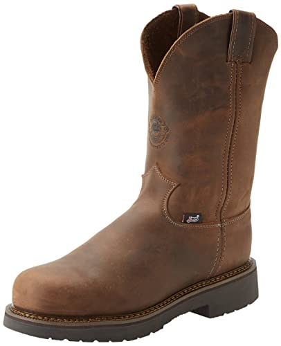 Amazon.com: Justin Original Work Boots Men's J-max Steel Toe Pull ...