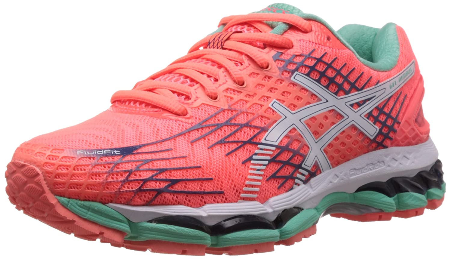 ASICS Women's Gel Nimbus 17 Flash Coral, White and Indigo Blue Mesh Running  Shoes -6 UK/India (39.5 EU)(8 US): Amazon.in: Shoes & Handbags