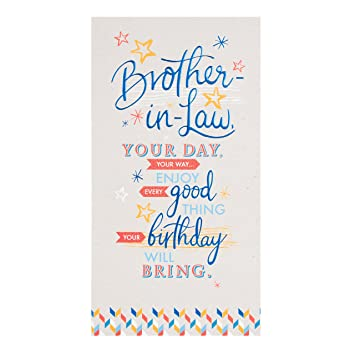 Image Unavailable Not Available For Color Hallmark 25446314 Brother In Law Birthday Card