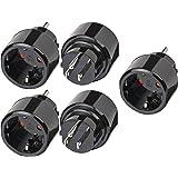 5 Stück Brennenstuhl Reisestecker/-adapter Schutzkontakt für USA, Japan schwarz, 1508550
