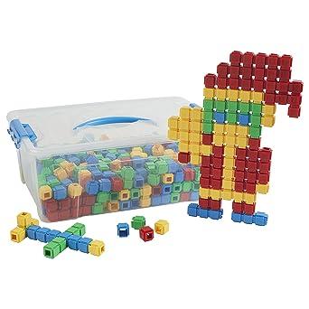 ECR4Kids Click-n-Create Cubes Math Manipulatives Kit de construcción, juguetes educativos sensoriales