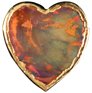 Heart Copper refrigerator magnet | MADE IN USA. Nice Girlfriend Gift or Gift for Your Wife | Strong Heart Kitchen Fridge Magnet