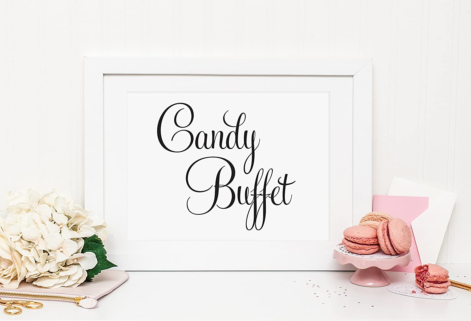 Miraculous Amazon Com Wedding Candy Buffet Sign Wedding Candy Bar Interior Design Ideas Tzicisoteloinfo