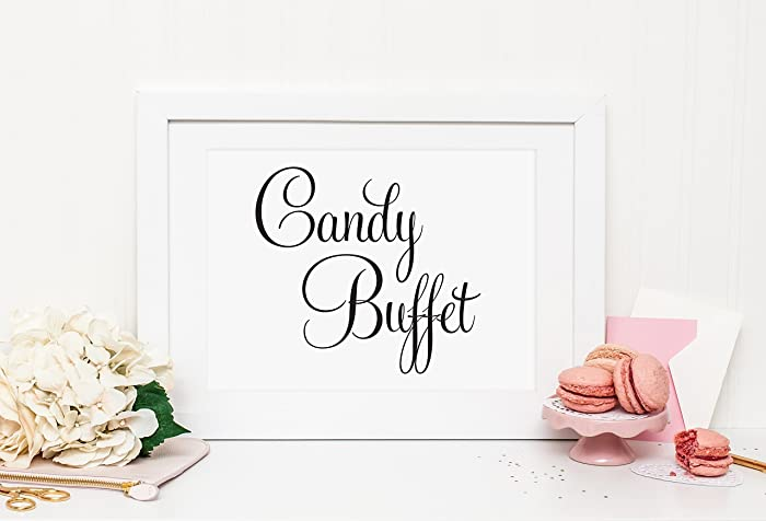 Amazon Wedding Candy Buffet Sign Wedding Candy Bar Sign