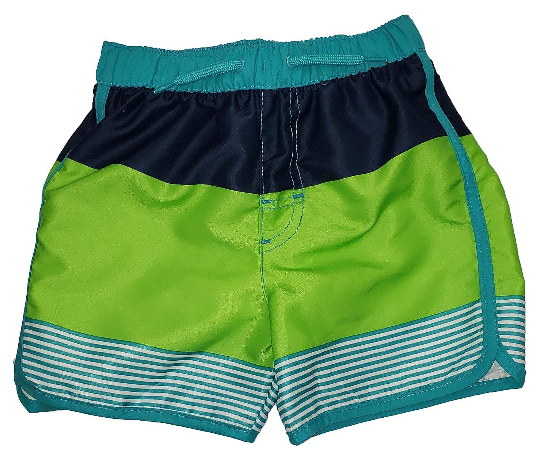 Wonder Nation Toddler Boys Blue Cove Panel Stripes Swim Short Trunk