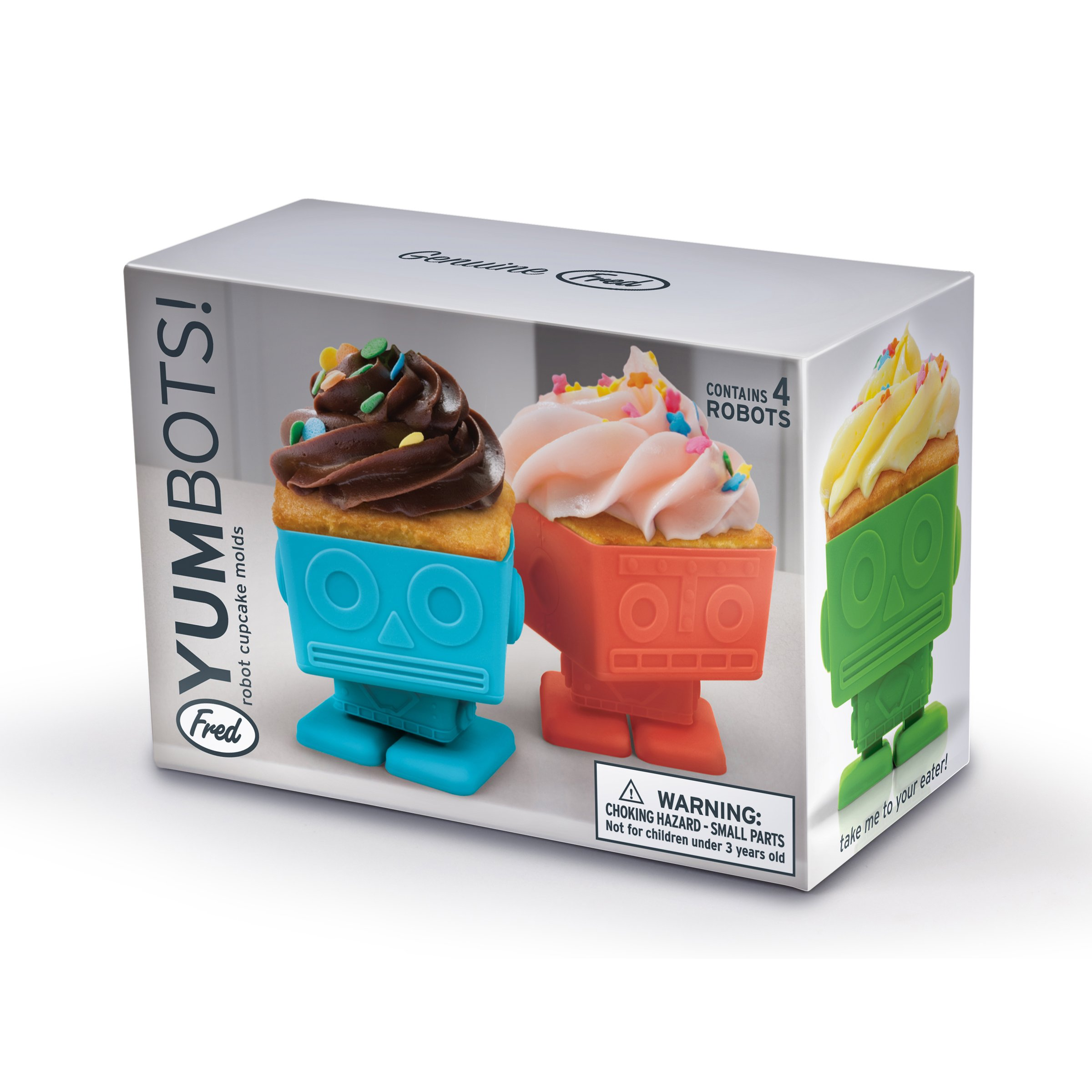 Fred YUMBOTS Robot Baking Cups, Set of 4 by Fred & Friends (Image #2)