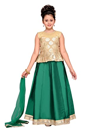 bb6823ecb6 Amazon.com: Adiva Girl's Indian Party Wear Lehenga Choli for Kids ...