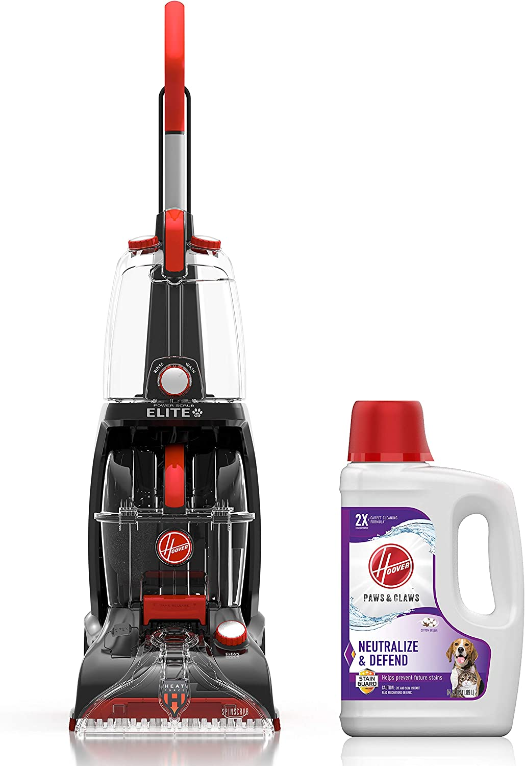 Hoover Power Scrub Elite Pet Upright Carpet Cleaner and Shampooer