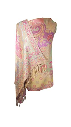 Pistachio Green Butterfly Pashmina Feel Scarf Wrap Shawl Scarves