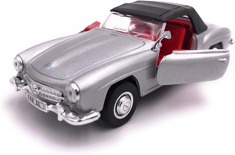 Welly Mercedes Benz 190 SL mod/èle de Licence de Voiture Produit 1 39 Argent ferm/é 34-1
