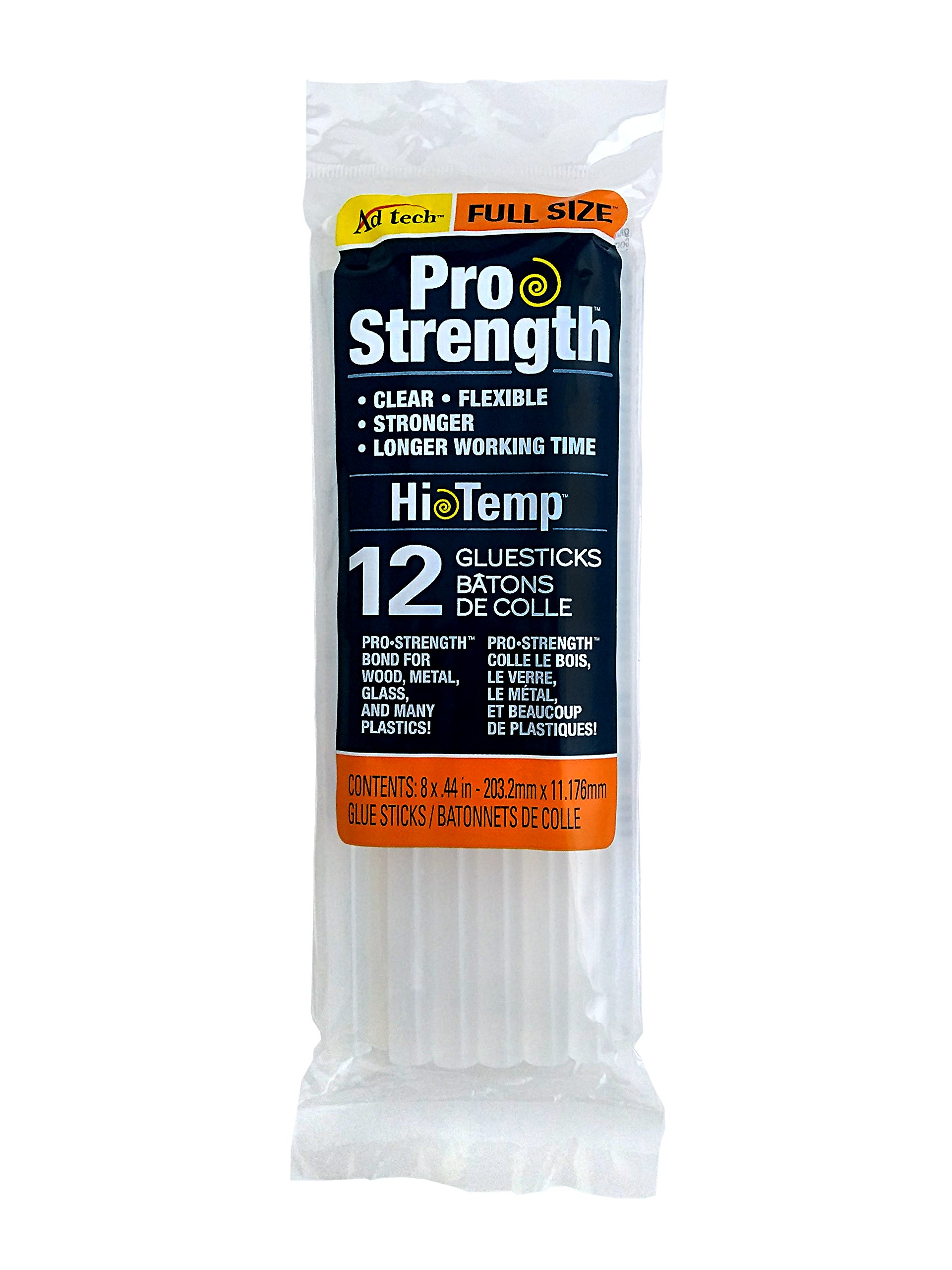 AdTech 12-Pack Full-Size Pro Strength Clear Glue Sticks #236-1812