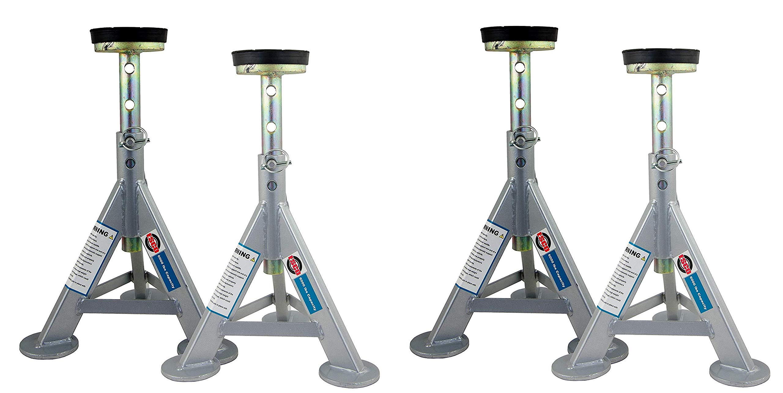 ESCO 10498 Jack Stands, 3 Ton Capacity, Pair of 2 Stands (Pack of 2) (2 X Pack of 2)