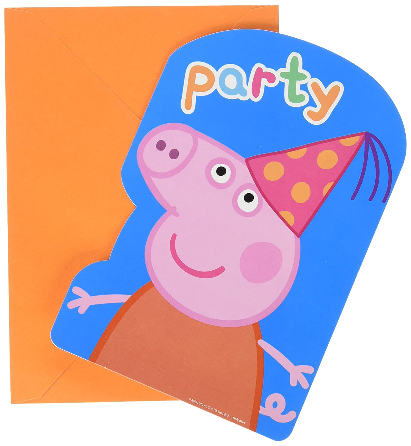 Amscan Peppa Pig Birthday Party Postcard Invitation Pack Of 8 4