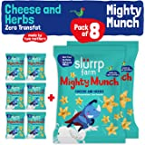 Slurrp Farm Tasty Mighty Munch | Cheese and Herbs | Healthy Snack for Kids (Pack of 8)