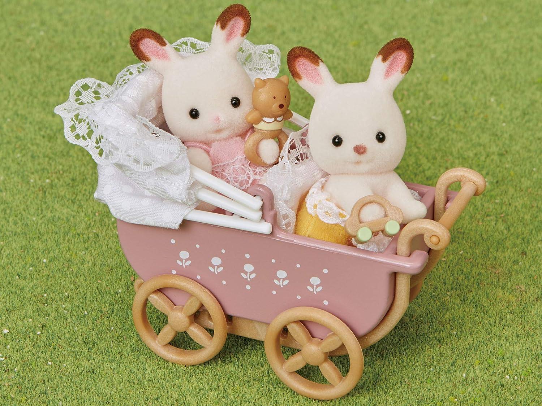 japan import 205 Sylvanian Families Baby /& Child Room pram Settoka