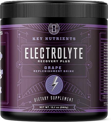 Electrolyte Powder, Grape Hydration Supplement 90 Servings, Carb, Calorie Sugar Free, Delicious Keto Replenishment Drink Mix. 6 Key Electrolytes – Magnesium, Potassium, Calcium More.