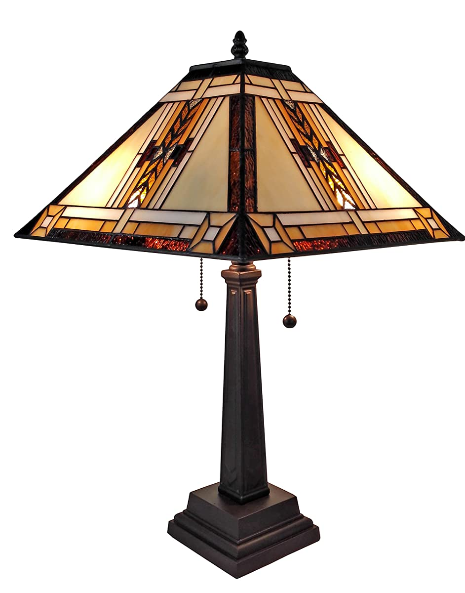 Amora Lighting AM099TL14 Tiffany Style Mission Design Table Lamp, 22""