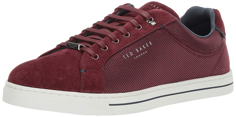 Dark Red Textile Ted Baker Mens Eeril Sneaker