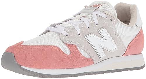 pretty nice be5f5 7de36 New Balance Damen WL520-TD-B Sneaker Orange Pfirsich Weiß, 36 EU