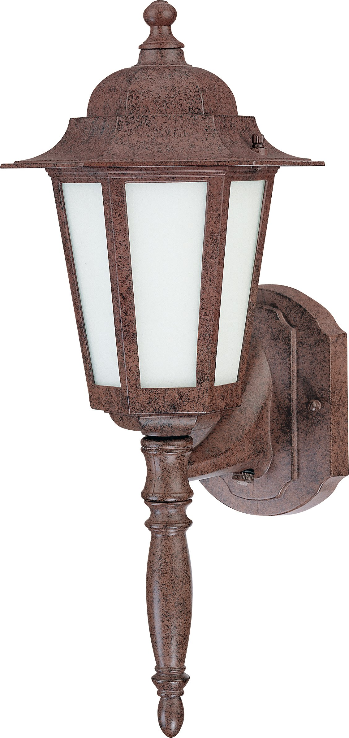 Nuvo Lighting 60/2202 One Light Cornerstone Wall Lantern with Frosted Glass and Photocell, Old Bronze by Nuvo Lighting
