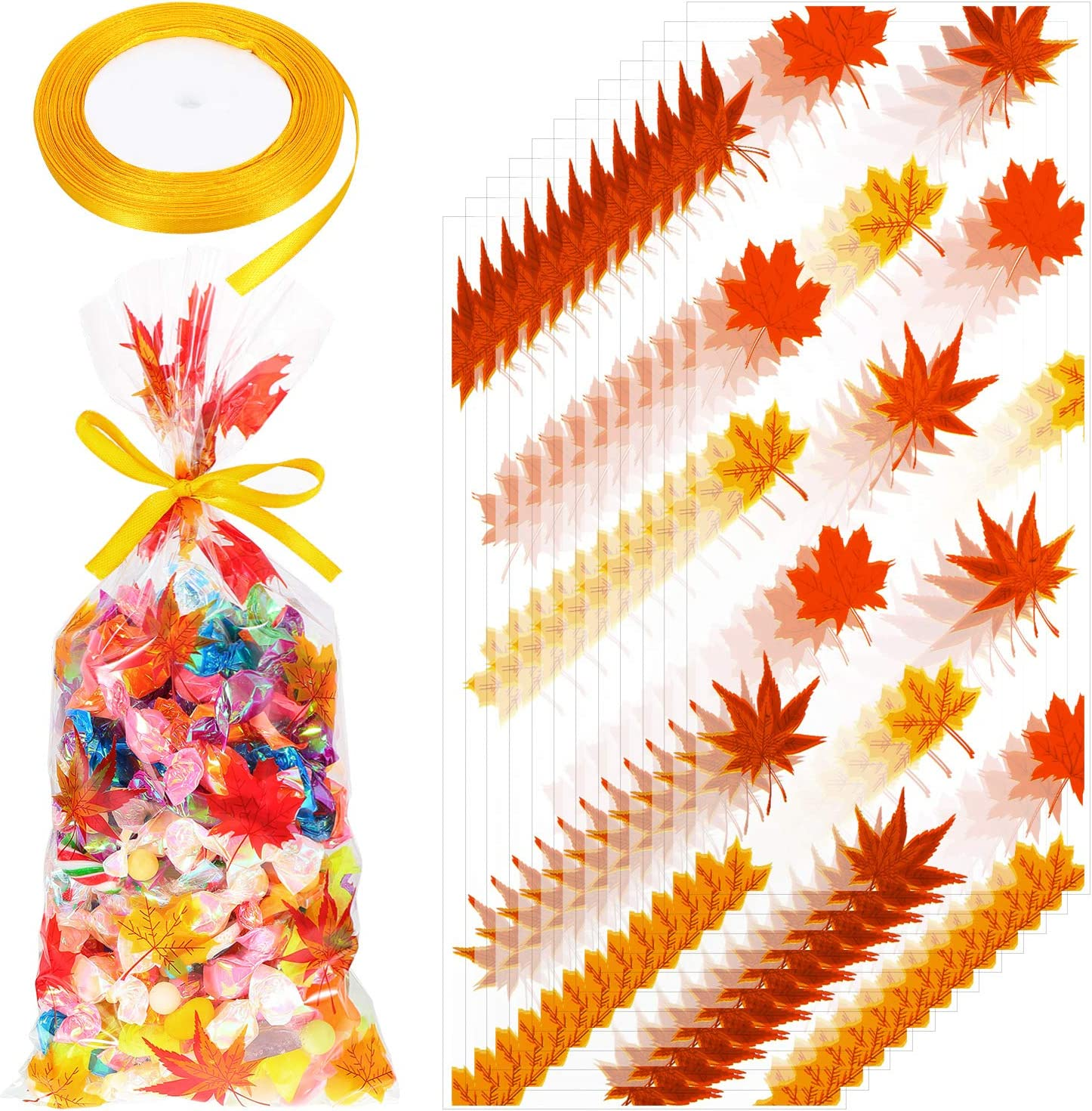 12 PAK Fall Thanksgiving Red Truck Pumpkins Favor Bags  Cookie Candy Party Favor Gift Bags  Utensils Cutlery Holder  2-3 Day Ship