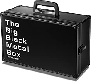The Big Black Metal Box (BBB Edition) | Case is Compatible with Magic The Gathering, MTG, All Standard Card Games (Game Not Included) | Includes 8 Dividers | Fits up to 2500 Loose Unsleeved Cards