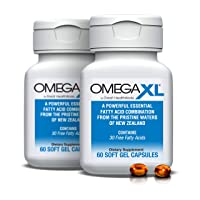 Omega XL (2 Pack) 60 Capsules - Green Lipped Mussel New Zealand, Omega 3 Natural...
