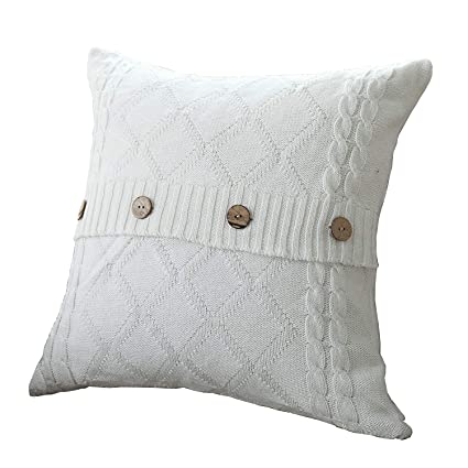 Amazon Uartlines Cotton Knitted Decorative Pillow Case Cushion