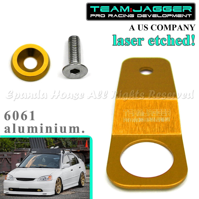 Honda JDM Aluminum Radiator Stay Mount Bracket Fender Washer Bolt GOLD Acura