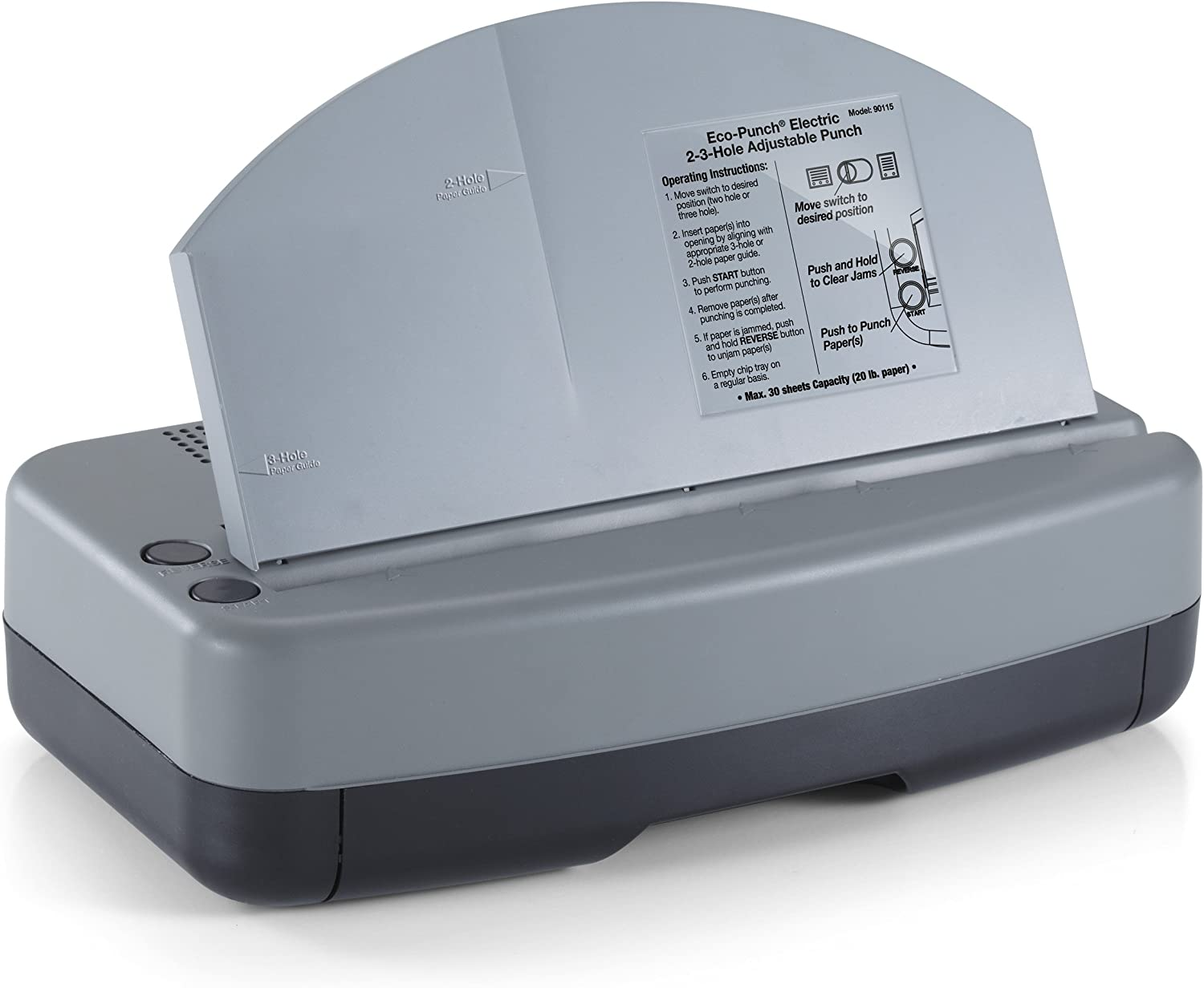 Swingline Commercial Electric 3 Hole Punch 28 Sheets 74535 - 5050574535 8.5 Centers