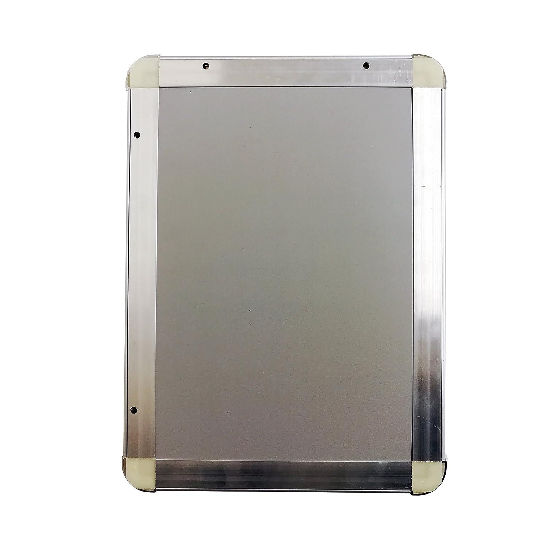 Warenfux24 (DIN A4) Aluminium Klapprahmen Runde Ecken Silber, Alu ...