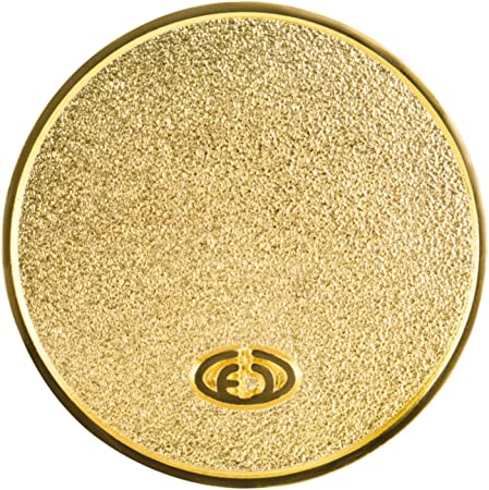 2,3cm Gold 1 St/ück M/ünze Metall Lebensblume Ersatz Einkaufswagenchip Gl/ücksbringer EnerChrom Blume des Lebens