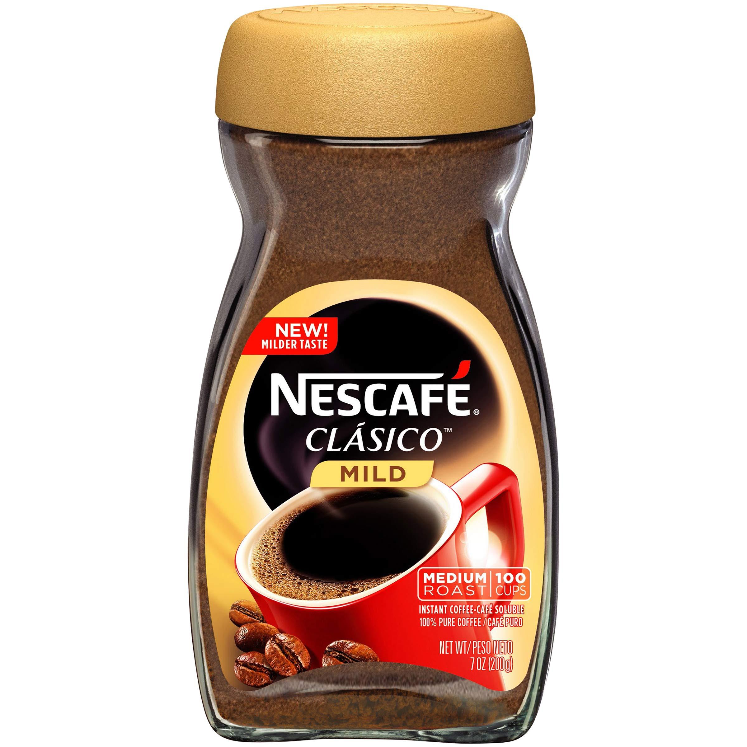 Nescafe Clasico Instant Coffee, Mild Medium Roast, 6Count