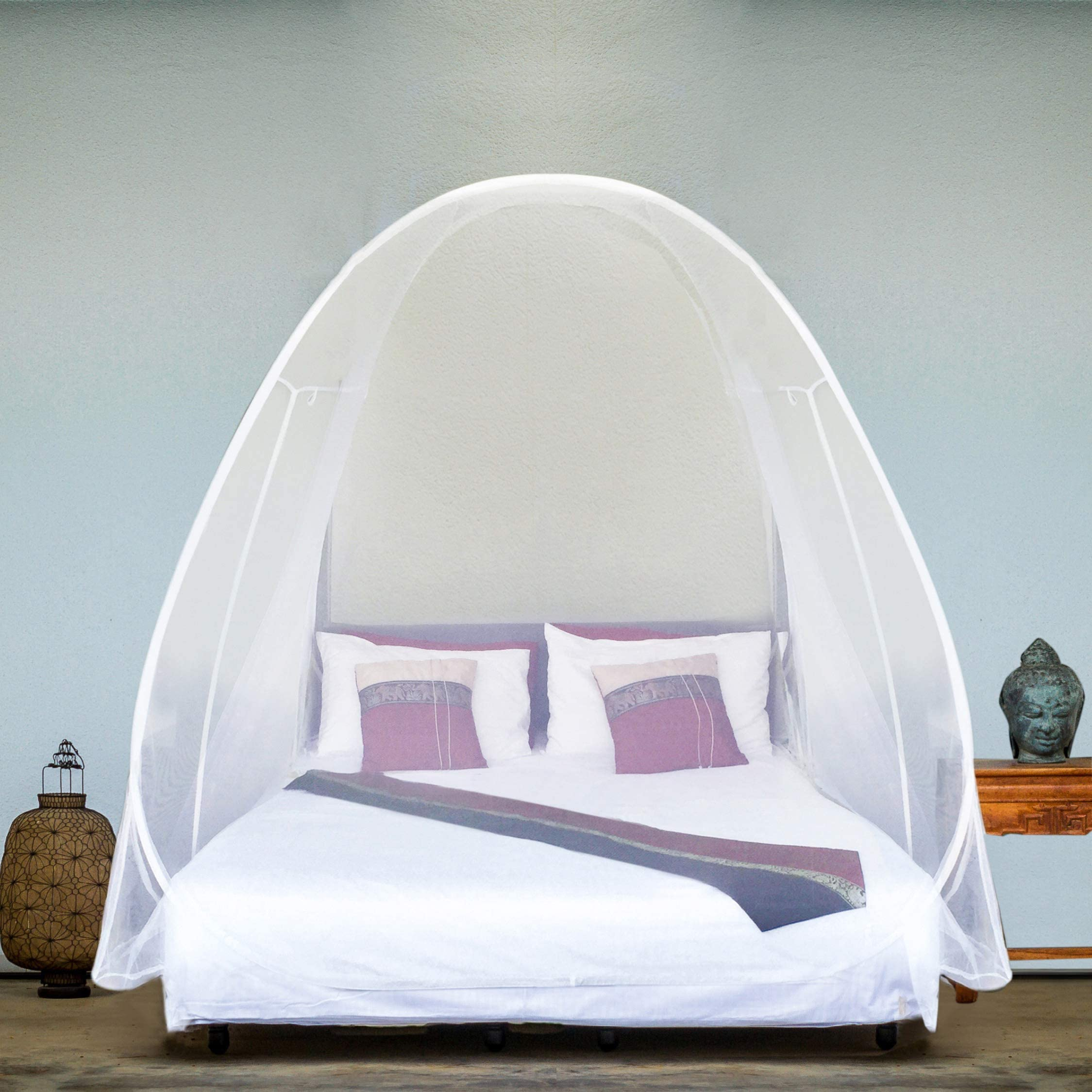 EVEN Naturals Luxury Pop Up Mosquito Net Tent Large for Twin to King Size Bed  sc 1 st  Amazon.com & Shop Amazon.com   Bed Canopies u0026 Drapes
