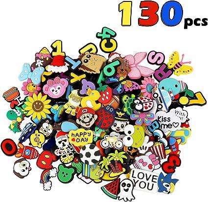 100PCS PVC Jibbitz Shoe Charms Shoe Buckles Accessories Fit for Clog Shoes Gift