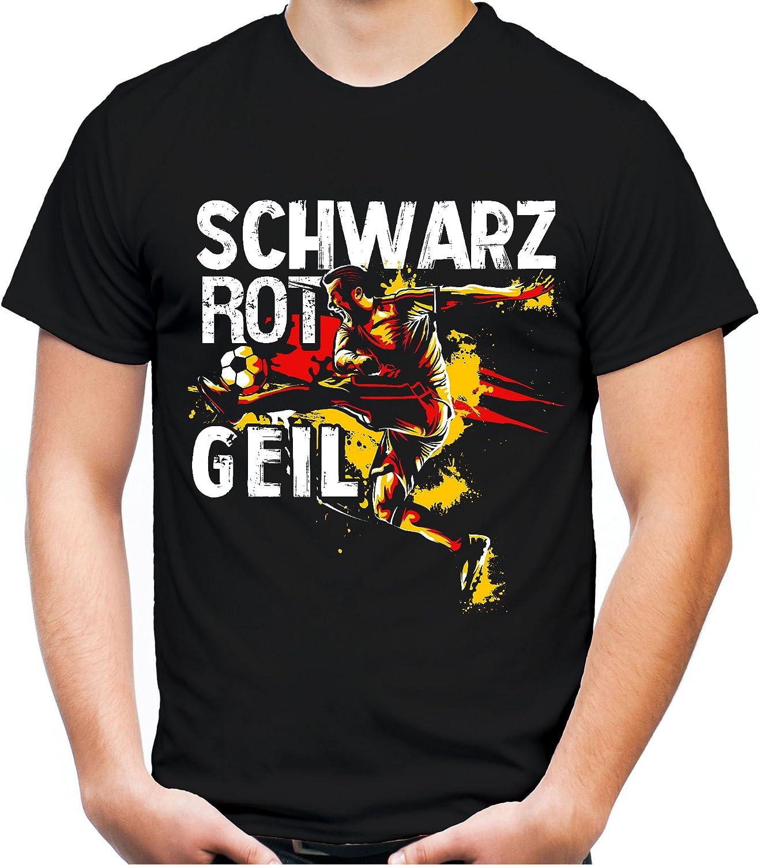 Schwarz Rot Geil Männer und Herren T-Shirt   Deutschland