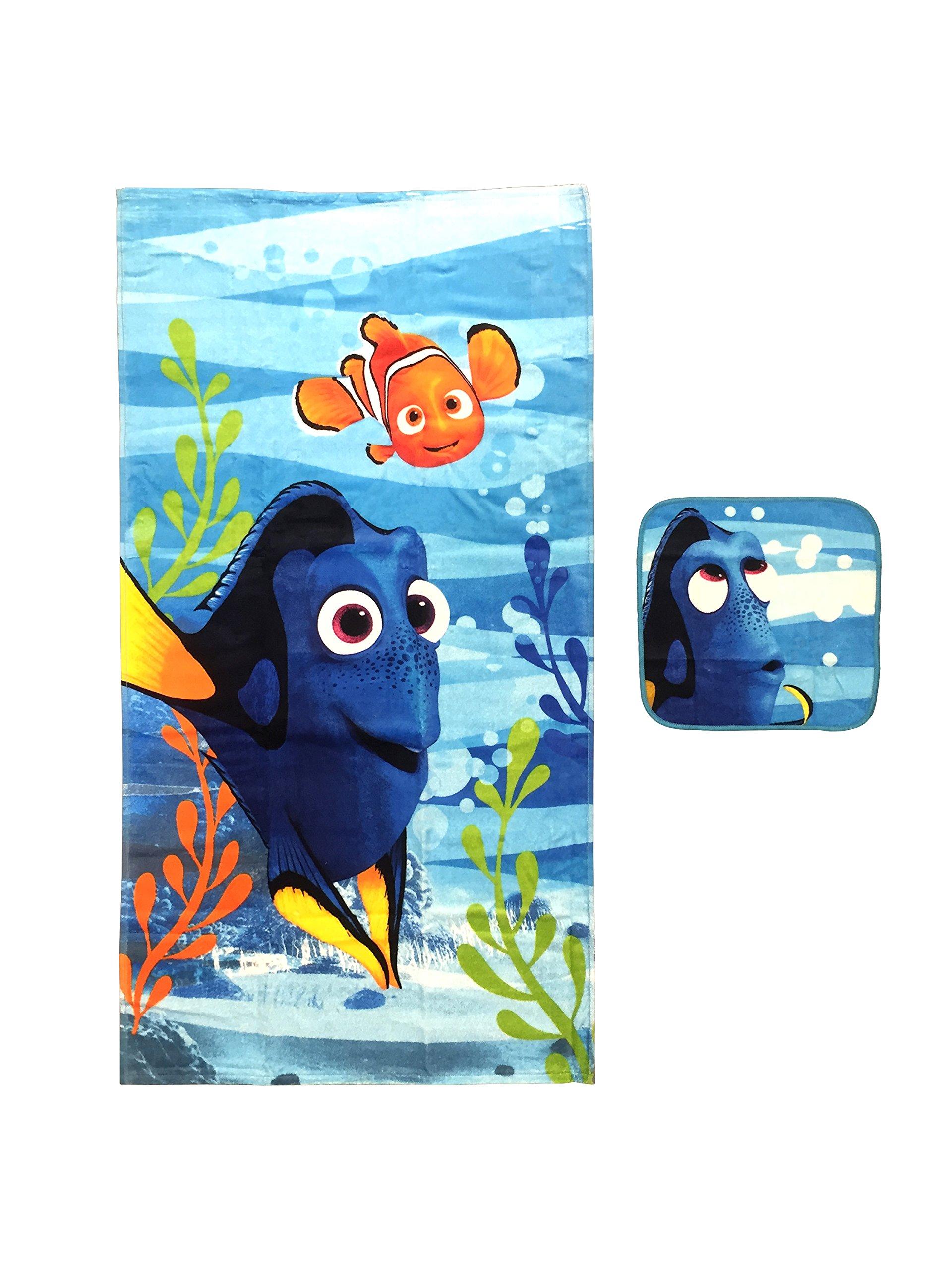 Disney/Pixar Finding Dory Adoryable 2 Piece Cotton Bath/Wash Set