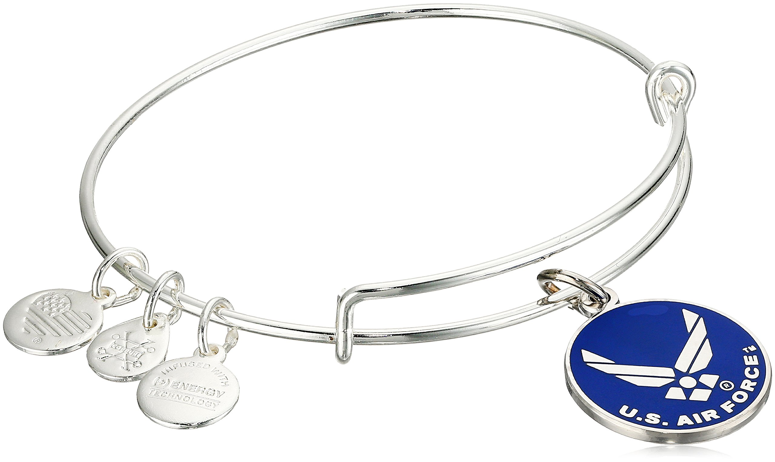 Alex and Ani ''Armed Forces'' US Air Force Expandable Silver Wire Bangle Charm Bracelet by Alex and Ani