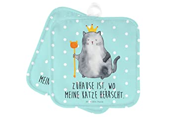 Mr. U0026 Mrs. Panda 2er Set Topflappen Katzen Koenig   100% Handmade In