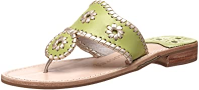 0ee70489ae07 Jack Rogers Women s Palm Beach Platinum Flat Thong