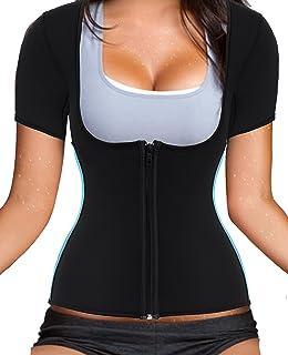 a7c6489fb26 Women Sauna Suit Waist Trainer Neoprene Shirt for Sport Workout Weight Loss  Corset Hot Body Shaper
